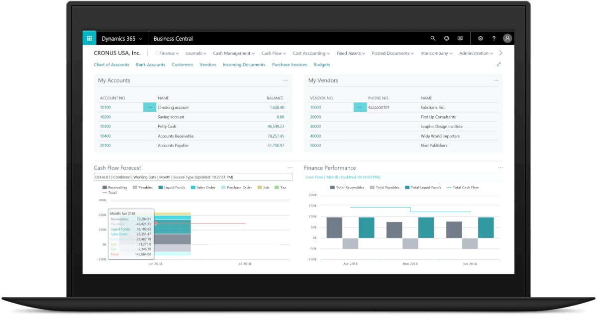 Dynamics365-Business-Central-screenshot-accounting